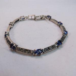 Charles Winston Deco Sterling Tanzanite Bracelet